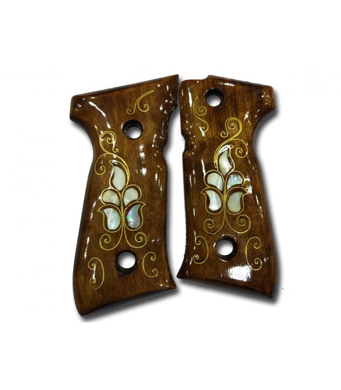 Beretta 92 Lale desenli Sedef kakma Kabza