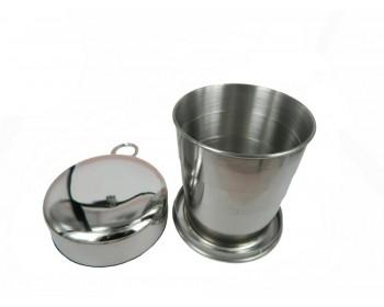 Portatif katlanır kamp bardağı 0.5 LT