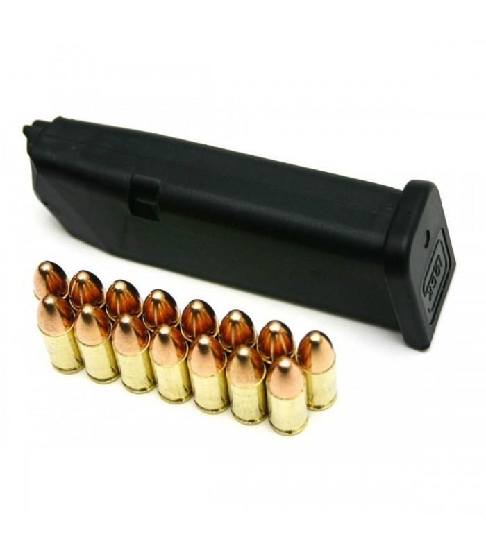 Glock 19 ve Glock 19 C için  -9mm-15+1 Kapasiteli Şarjör