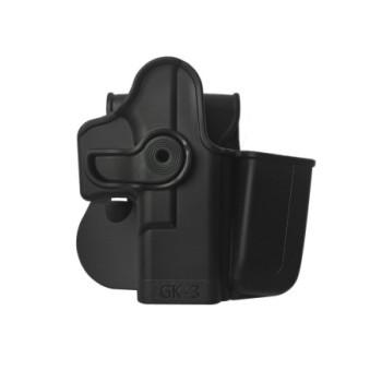 IMI Glock 17 - 22 - 31 . 19 - 23 - 32 - 36için Polimer Tabanca Kılıfı